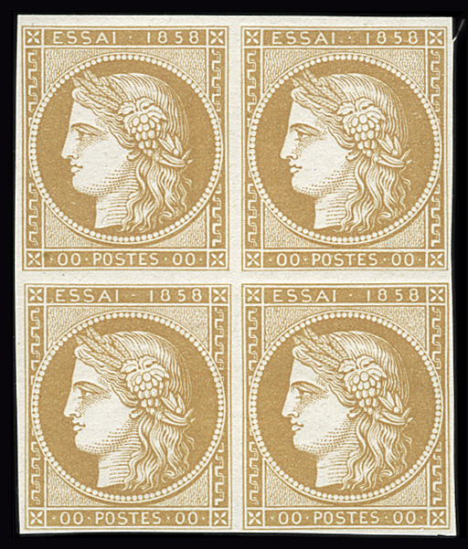 Lot 1 - France ceres 1849-1850 -  Le Timbre Classique SA SALE ON OFFERS N ° 36 PARIS