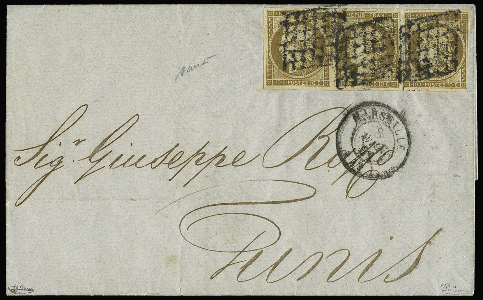 Lot 3 - France ceres 1849-1850 -  Le Timbre Classique SA SALE ON OFFERS N ° 36 PARIS