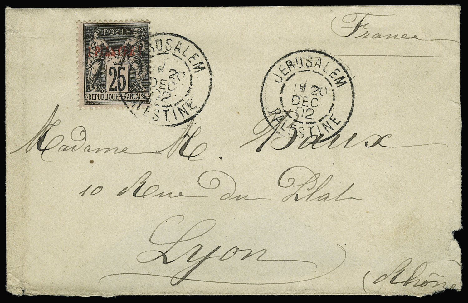 Lot 2615 - colonies françaises levant francais -  Le Timbre Classique SA SALE ON OFFERS N ° 36 PARIS