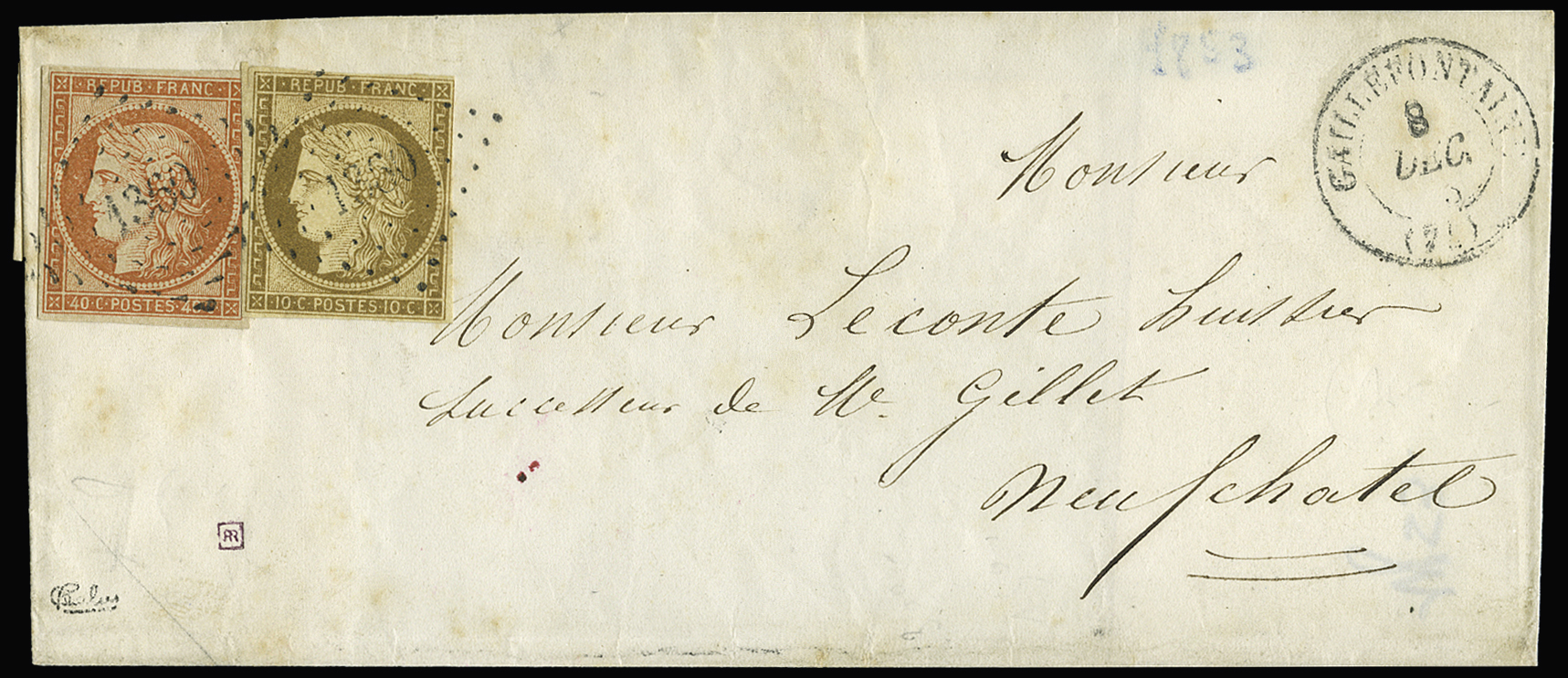 Lot 15 - France ceres 1849-1850 -  Le Timbre Classique SA SALE ON OFFERS N ° 36 PARIS