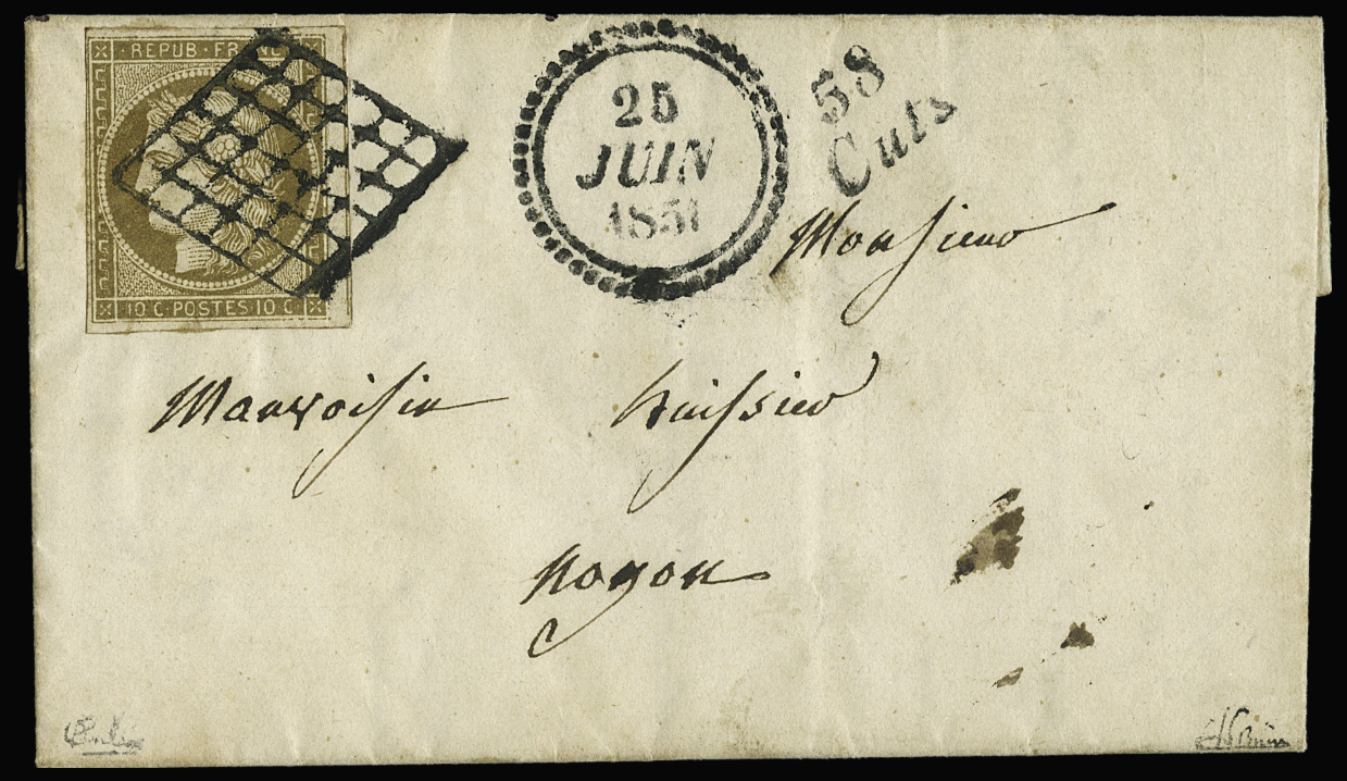 Lot 21 - France ceres 1849-1850 -  Le Timbre Classique SA SALE ON OFFERS N ° 36 PARIS