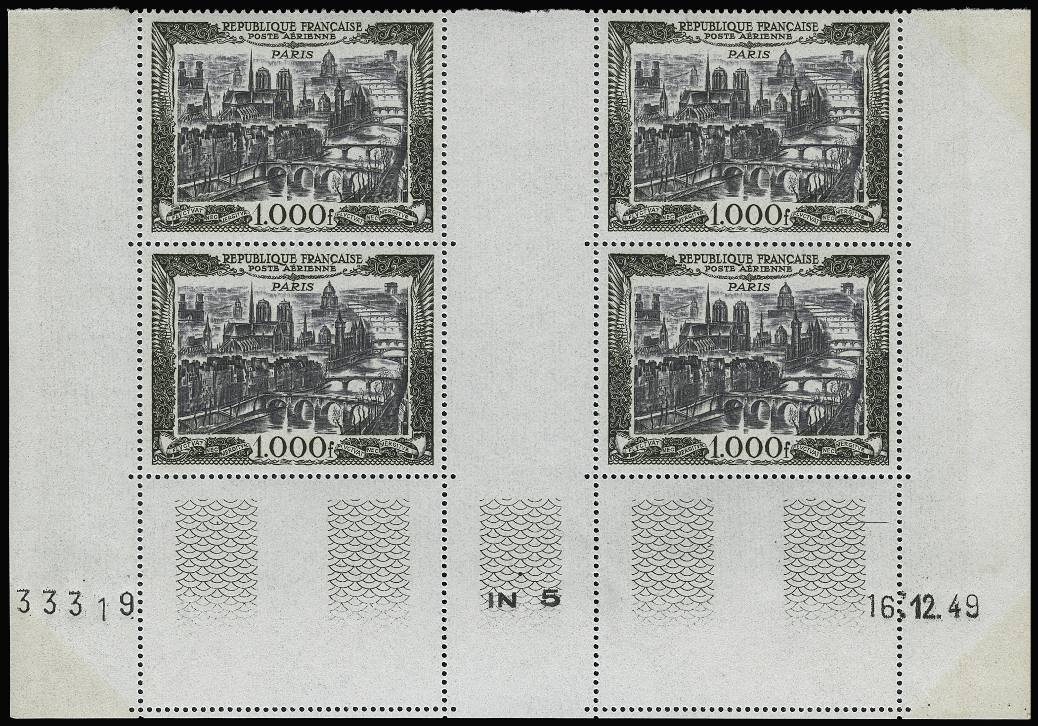 Lot 1941 - France poste aerienne -  Le Timbre Classique SA SALE ON OFFERS N ° 36 PARIS