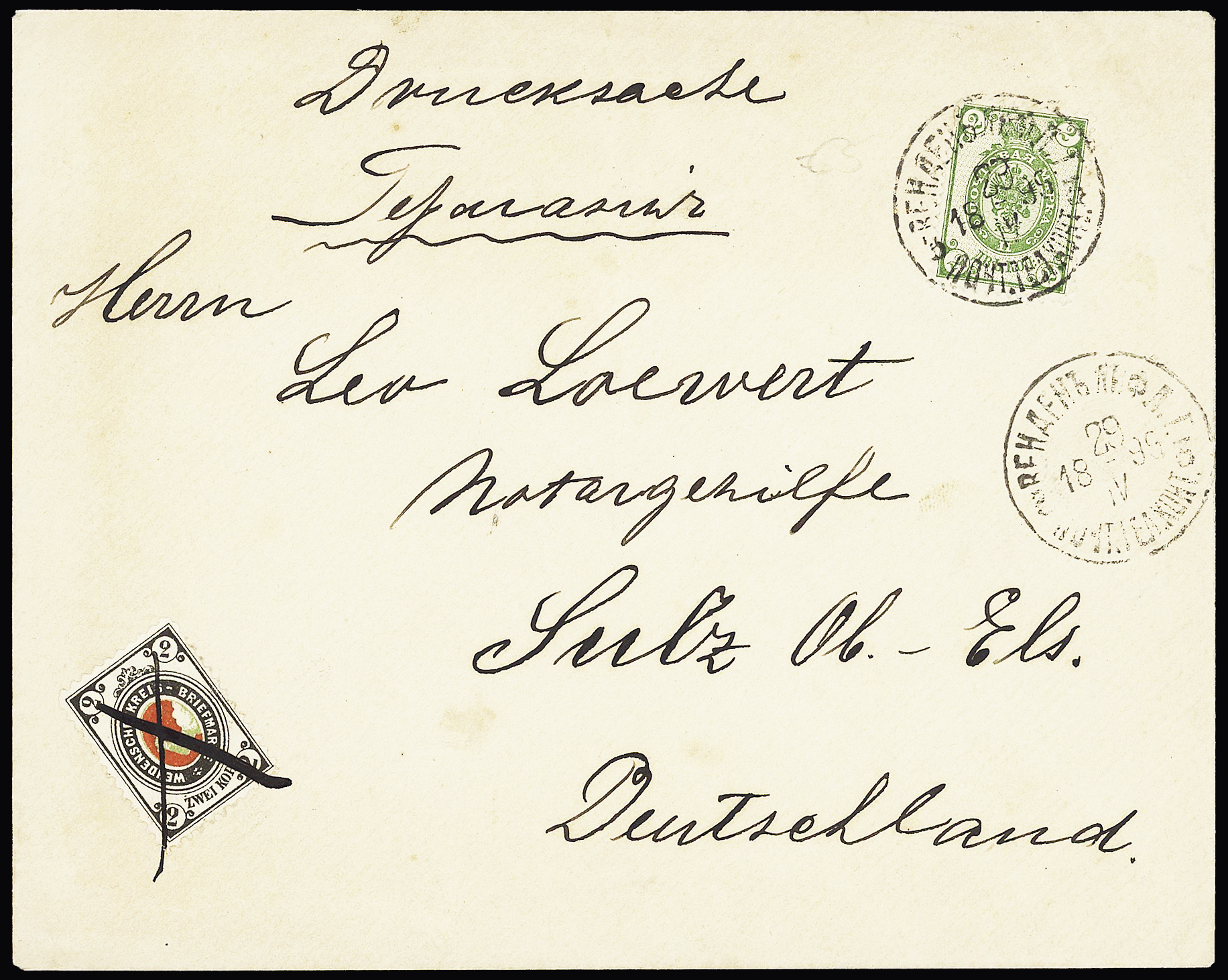 Lot 595 - Eastern Europe » RUSSIA - ZEMSTVOS » Wenden (Livland Government)  -  Le Timbre Classique SA SALE ON OFFERS N ° 37 PARIS