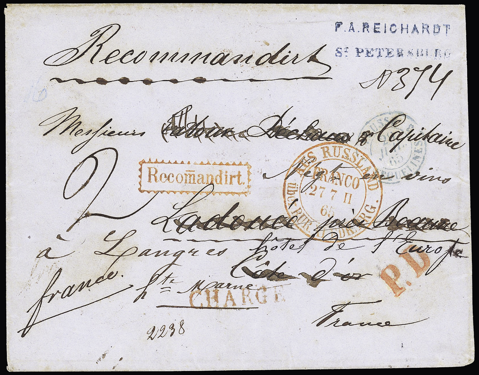 Lot 263 - Eastern Europe » Russia and USSR  -  Le Timbre Classique SA SALE ON OFFERS N ° 37 PARIS