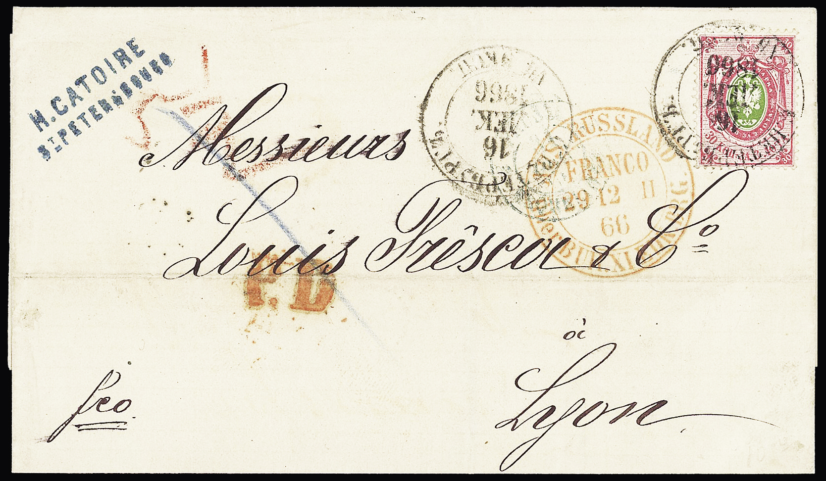 Lot 274 - Eastern Europe » Russia and USSR  -  Le Timbre Classique SA SALE ON OFFERS N ° 37 PARIS