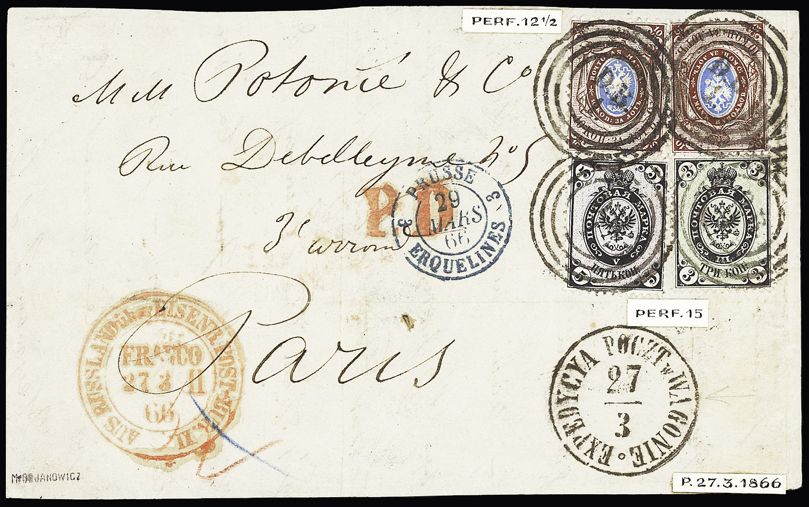 Lot 268 - Eastern Europe » Russia and USSR  -  Le Timbre Classique SA SALE ON OFFERS N ° 37 PARIS