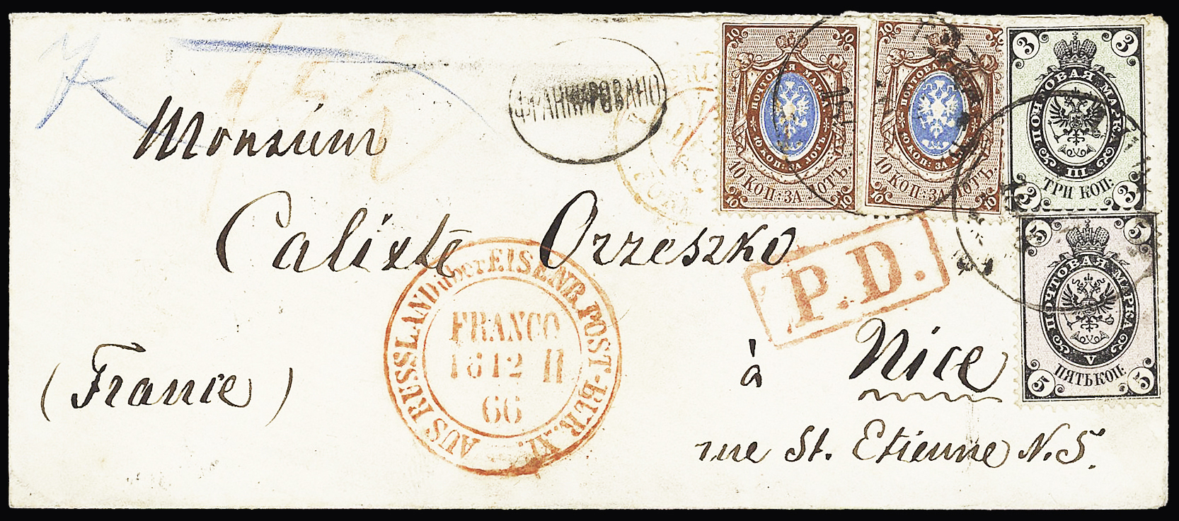 Lot 273 - Eastern Europe » Russia and USSR  -  Le Timbre Classique SA SALE ON OFFERS N ° 37 PARIS