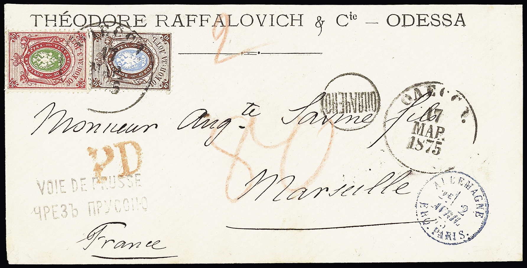 Lot 363 - Eastern Europe » Russia and USSR  -  Le Timbre Classique SA SALE ON OFFERS N ° 37 PARIS