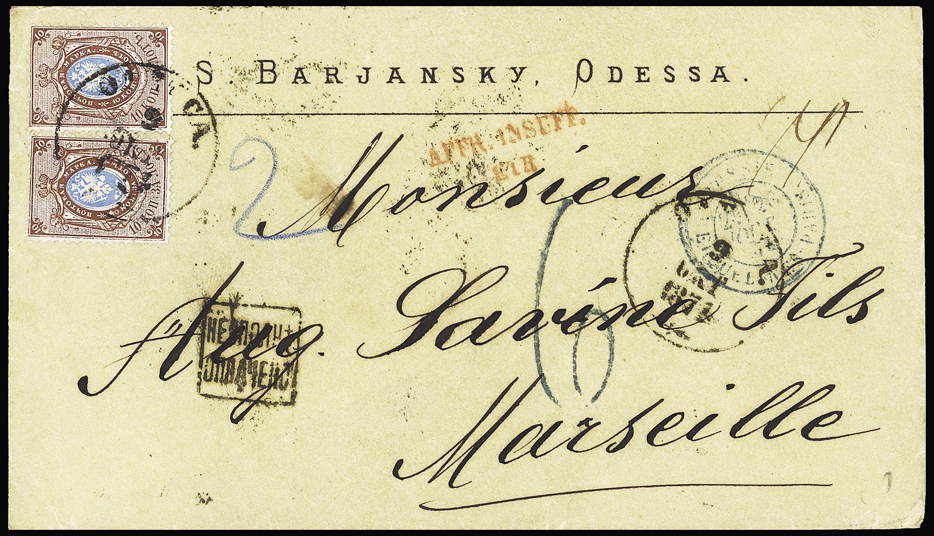 Lot 378 - Eastern Europe » Russia and USSR  -  Le Timbre Classique SA SALE ON OFFERS N ° 37 PARIS