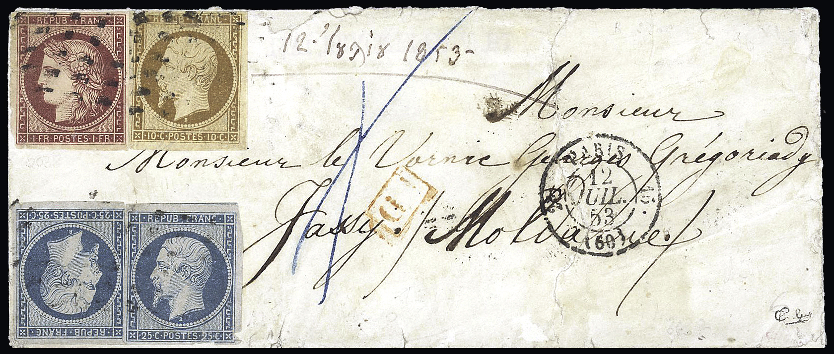 Lot 236 - FRANCE » CERES 1849-1850  -  Le Timbre Classique SA SALE ON OFFERS N ° 37 PARIS