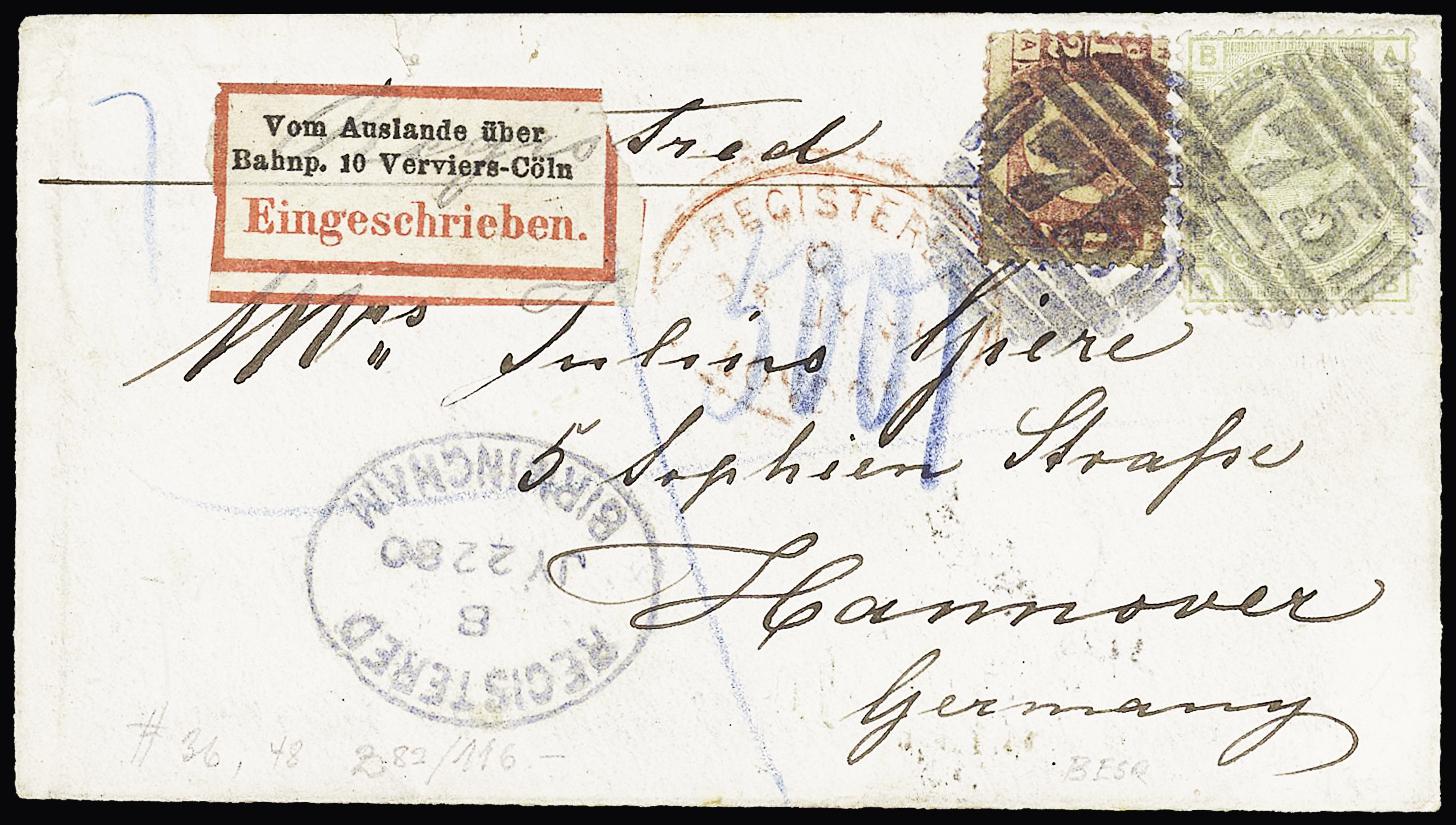 Lot 229 - Western Europe » Great Britain  -  Le Timbre Classique SA SALE ON OFFERS N ° 37 PARIS