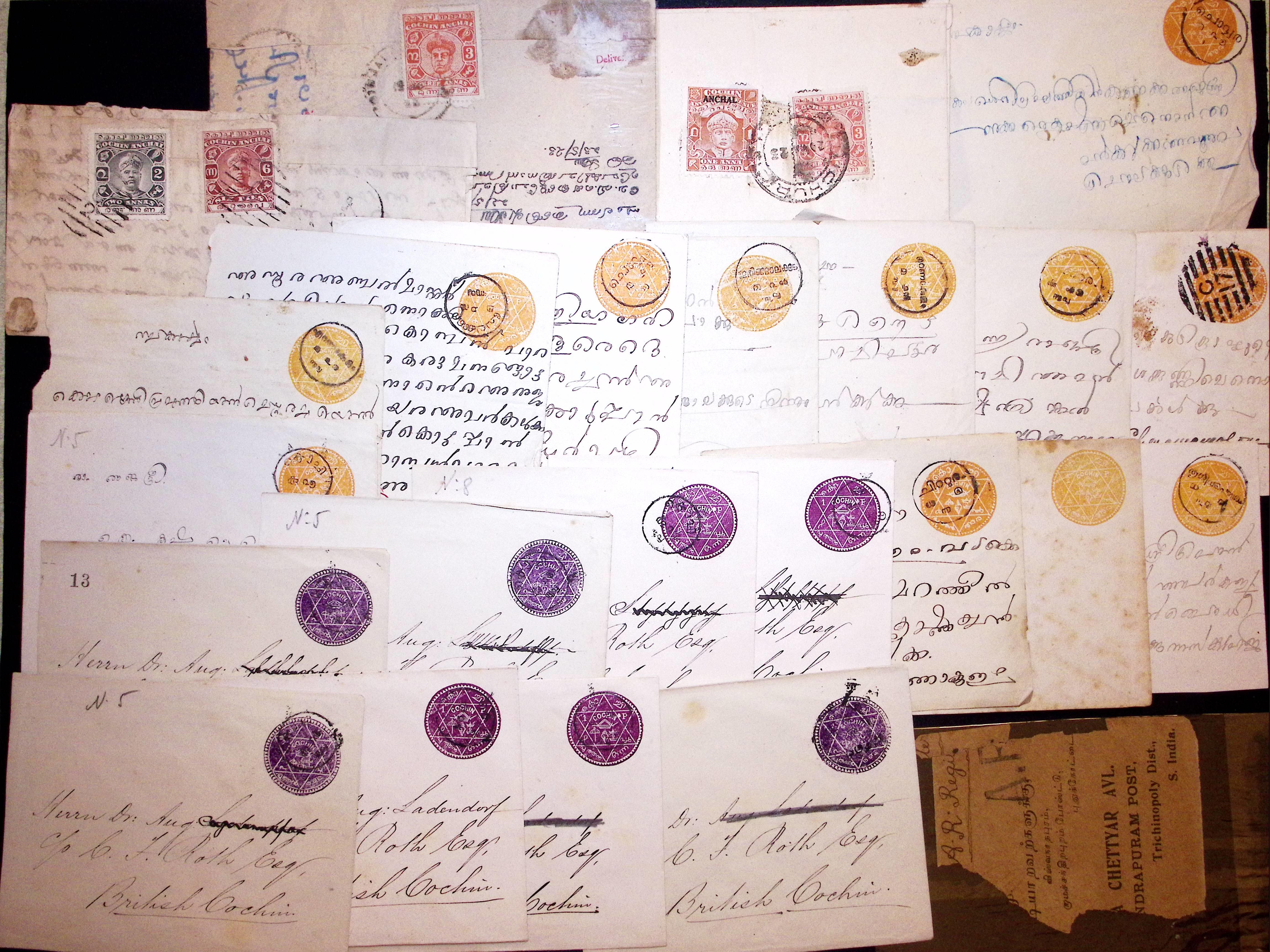 Lot 800 - Overseas » Indian States - Cochin  -  Le Timbre Classique SA SALE ON OFFERS N ° 37 PARIS