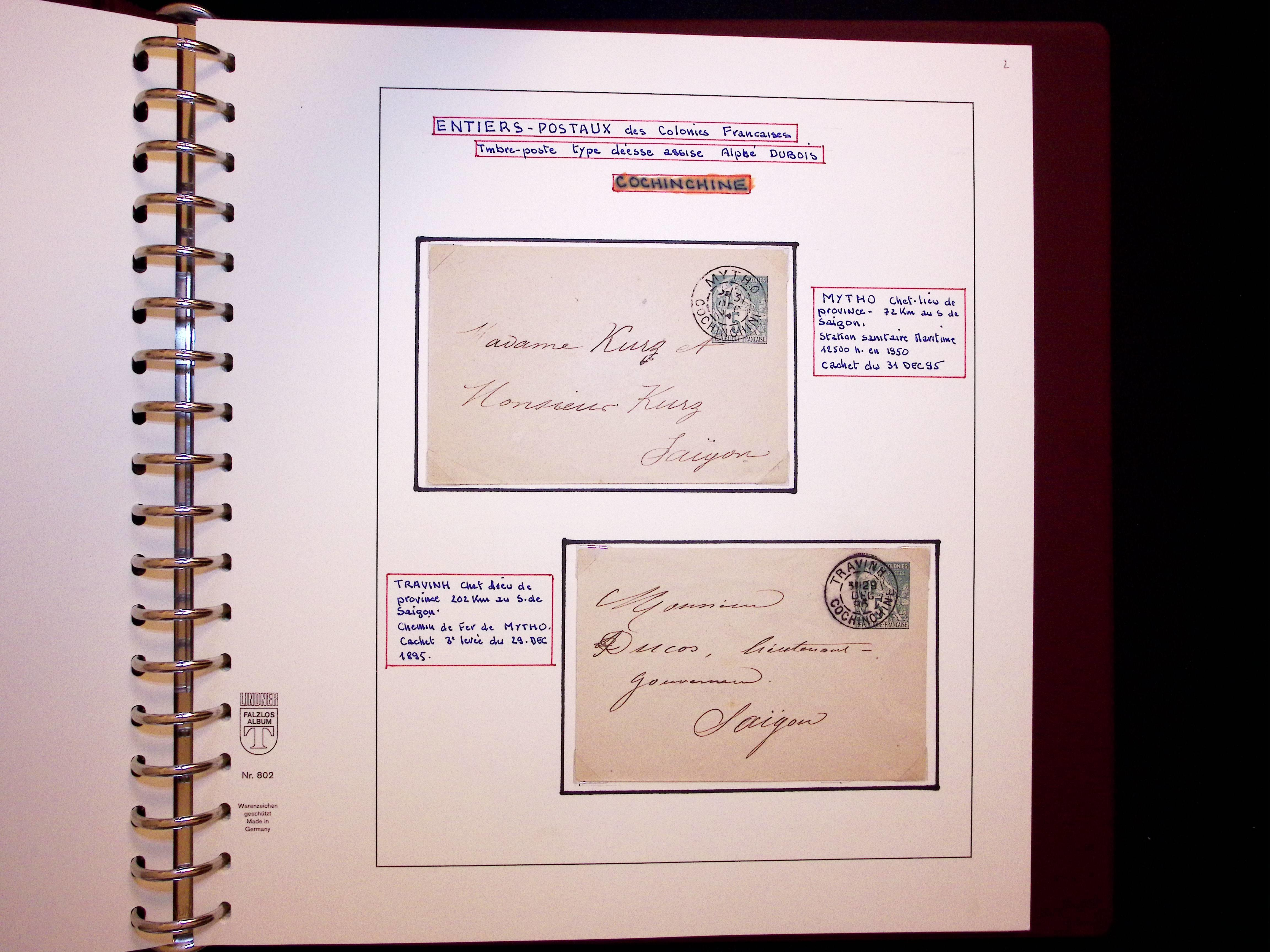 Lot 247 - French Colonies » COCHINCHINE  -  Le Timbre Classique SA SALE ON OFFERS N ° 37 PARIS
